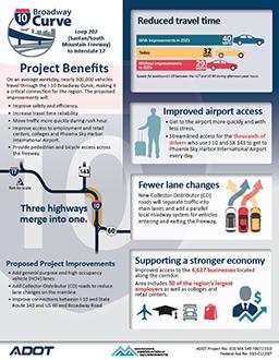 I-10 Broadway Curve Benefits Flyer Thumbnail