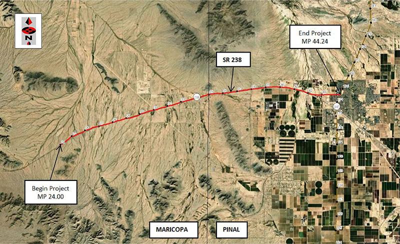 SR 238 Drainage Study Map