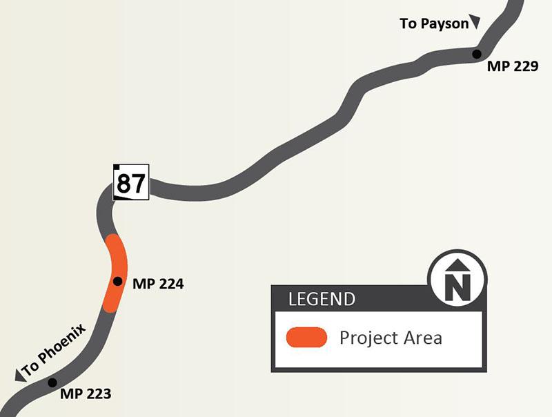 SR 87 Slate Creek Slope Stabilization Map
