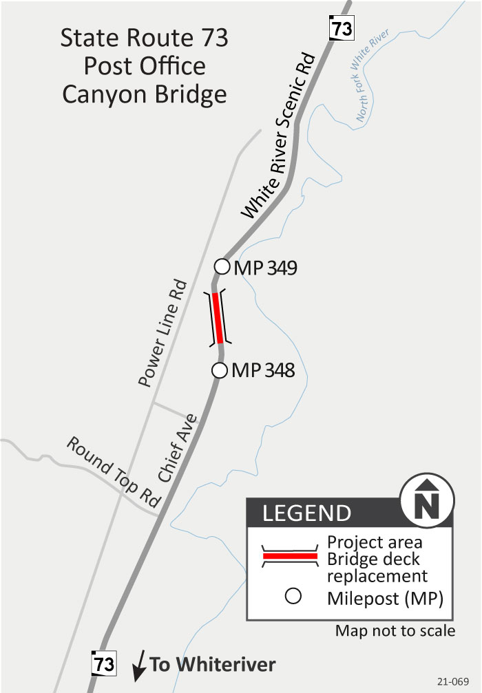 SR 73 Post office Canyon Project Map
