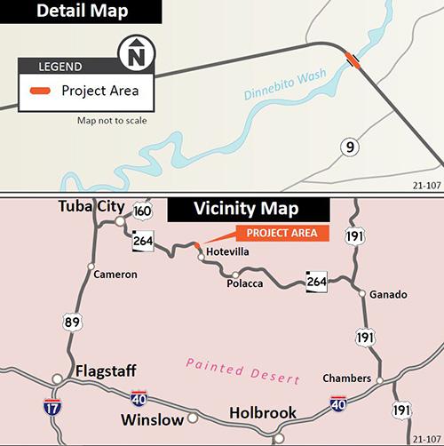 SR 264 Dinnebito Wash Project Map