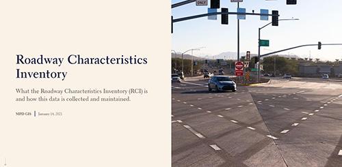 Roadway Characteristics Inventory Storymap