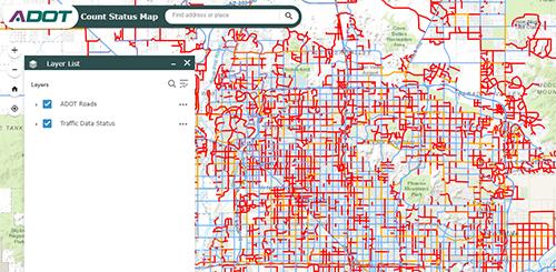 Traffic Count Status Map