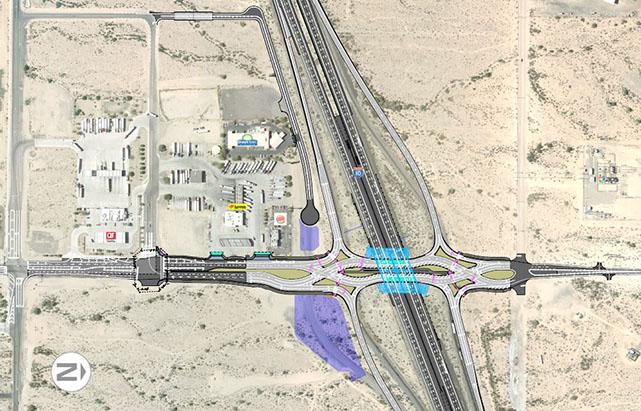Miller Rd. Traffic Interchange Design graphic