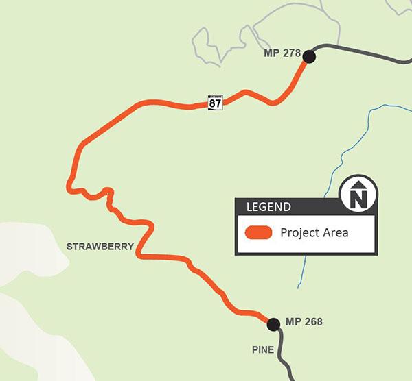 SR 87 Shoulder Widening Map
