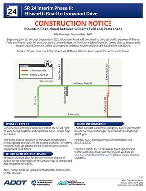 SR 24 Interim Phase II Ellsworth to Ironwood Construction Notice