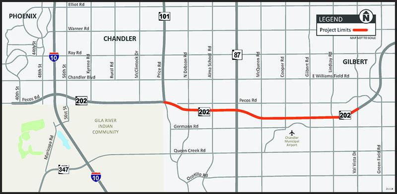 Loop 202 to Val Vista Drive Loop 101 Project Map