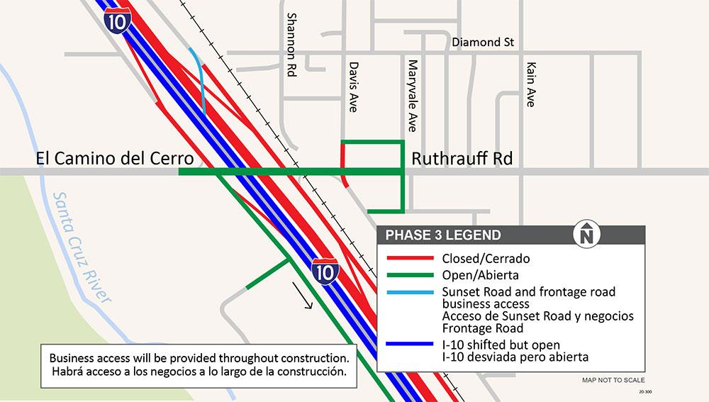 I-10 Ruthrauff Project Map
