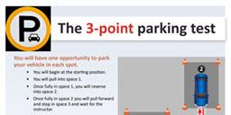 flyer: 3-point parking test