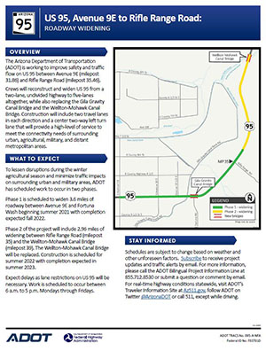 US 95 Project Flyer