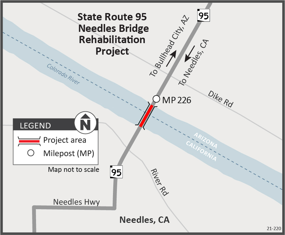 SR 95 Needles Bridge Project Map
