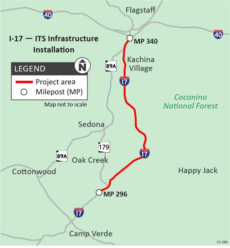 I-17 ITS Map