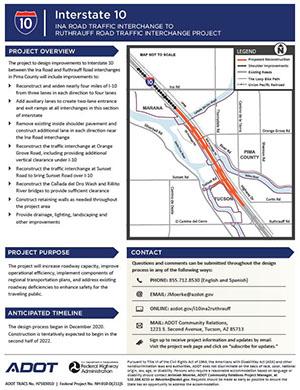 I-10 Ina to Ruthrauff Factsheet