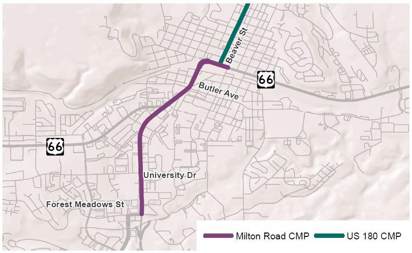 Milton Road Project Corridor