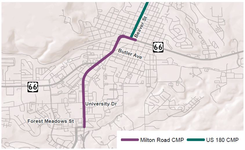 milton rd project area map