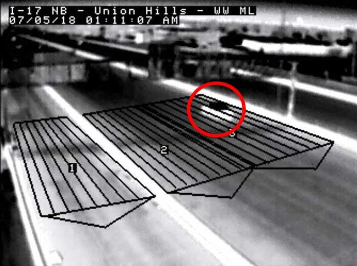 I-17 wrong-way alert system camera