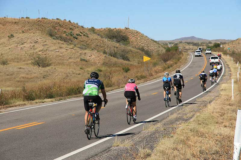 Cyclists on SR 82