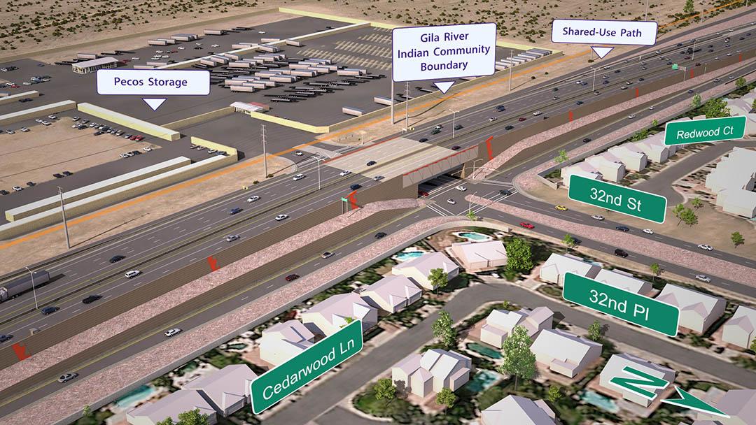 I-10 and 32nd Street Traffic Interchange Rendering