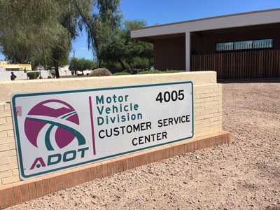MVD Customer Service Center Sign at 51st Avenue Office