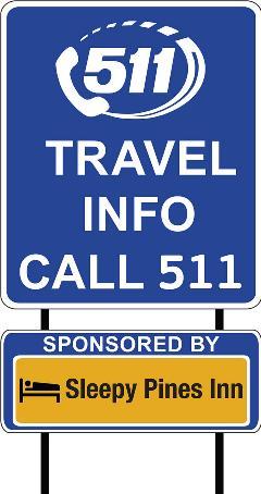 AZ511 Travel Info Sign - Call 511