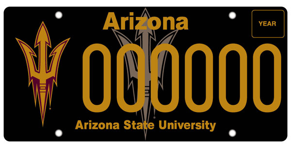 Arizona State University License Plate