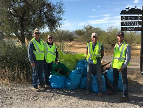 Adopt a Highway volunteers after pickup