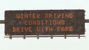 Dynamic Message: Winter Driving Conditions, Drive with Care
