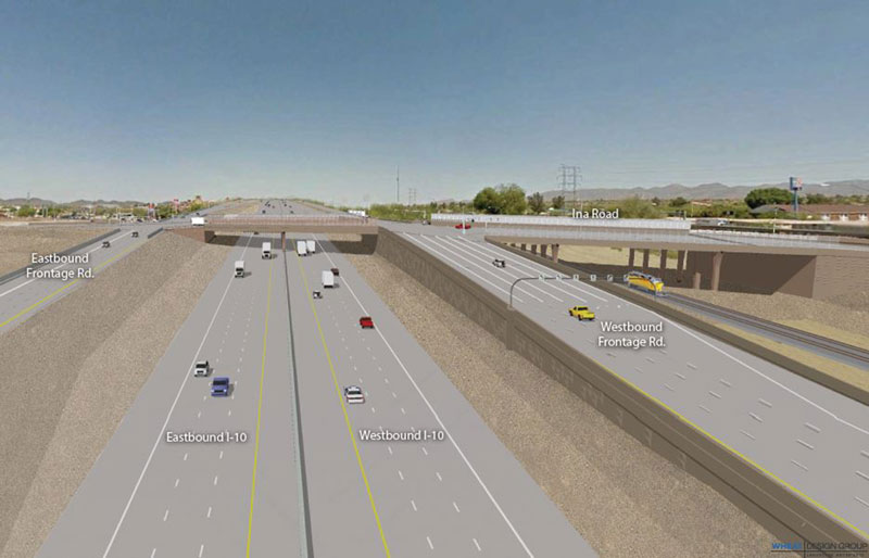Rendering of the new I-10/Ina road Interchange