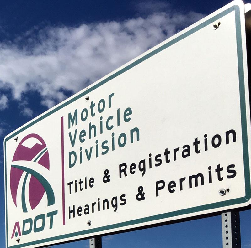 ADOT Motor Vehicle Division Sign