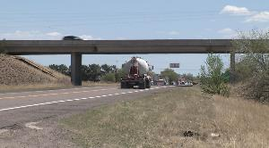 I-40 overpass provides access to Seligman.