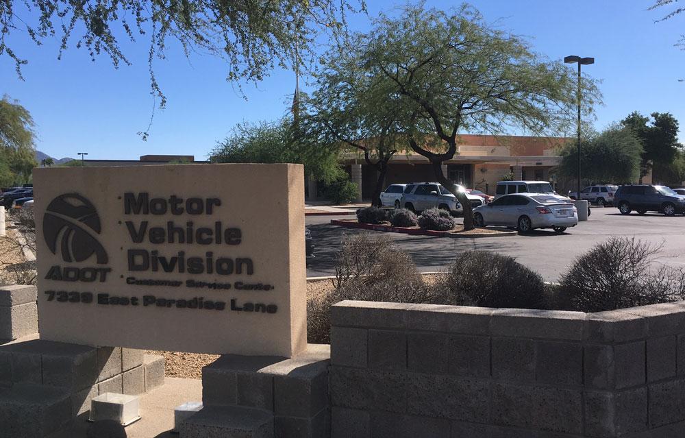 Exterior of Scottsdale MVD Office.