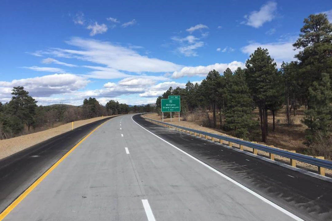 New pavement on I-40 Devil Dog.