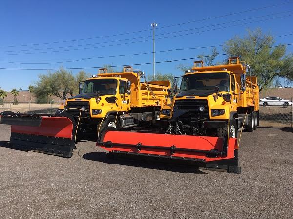 Two new snowplows.
