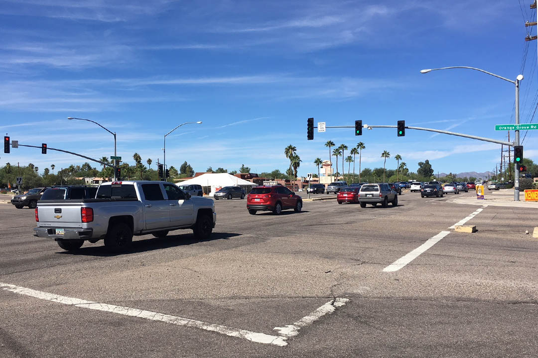 New adaptive signal timing system installed on State Route 77 (Oracle Road), Tucson.