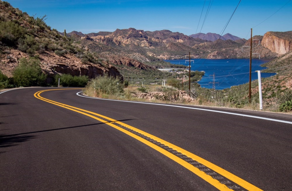 New pavement on SR 88