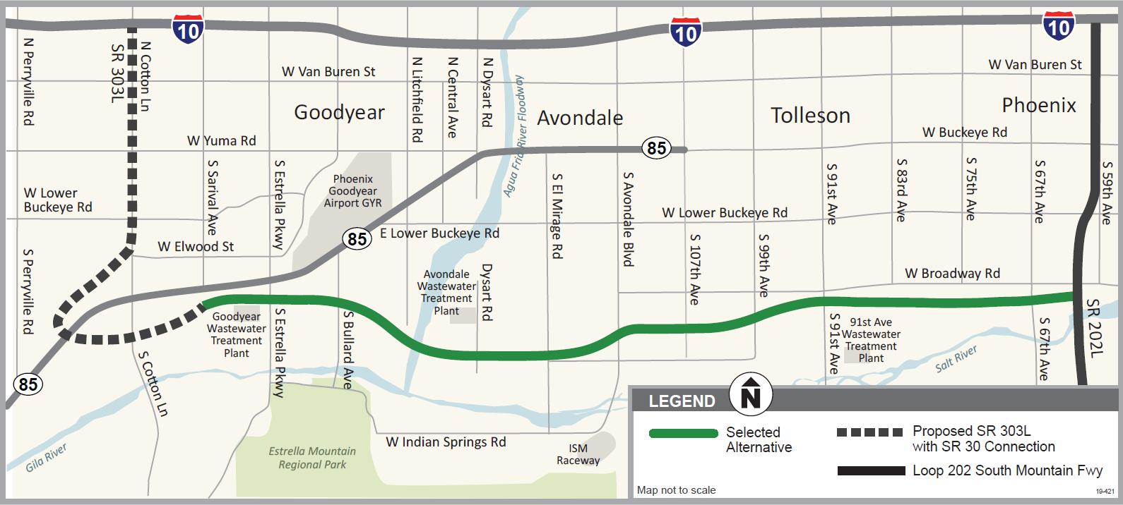 SR 30 Study Map