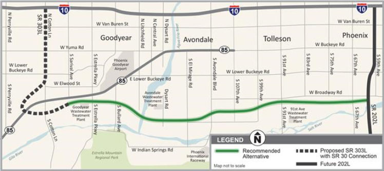 SR 30 Study Project Map
