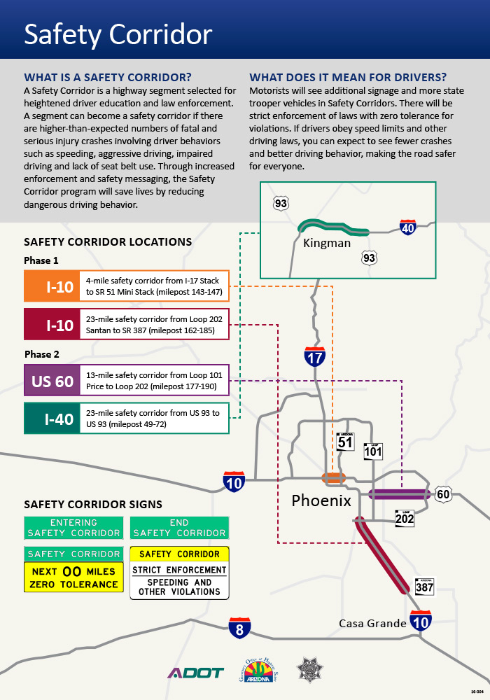 Safety Corridor Flyer: What is a Safety Corridor?  What does it mean for drivers?