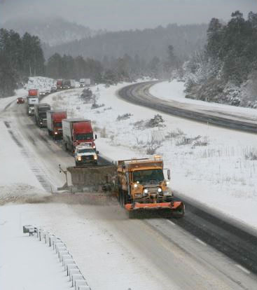 ADOT Towplow plowing Interstate 17