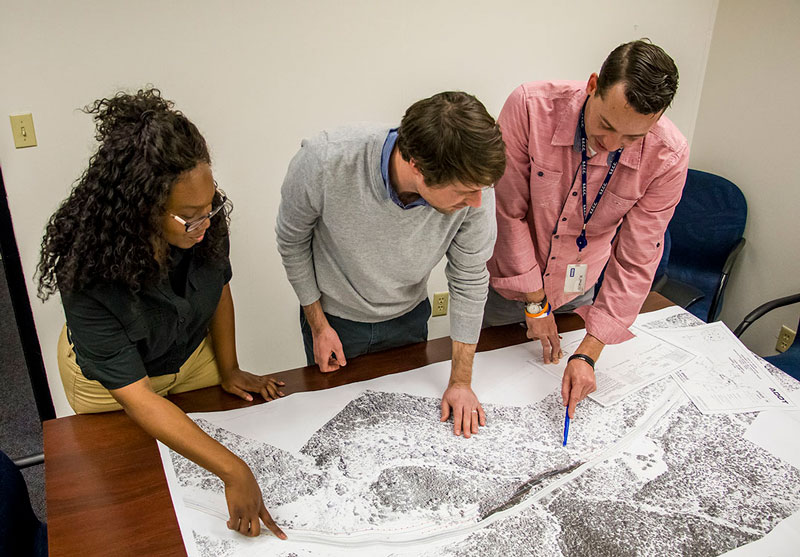 Engineering Team reviews plans