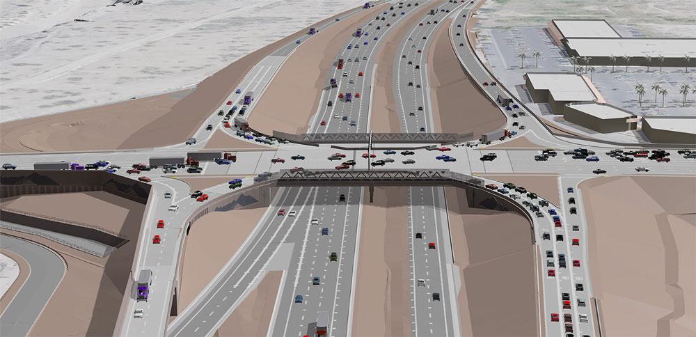 Ajo Way (SR 86) interchange rendering