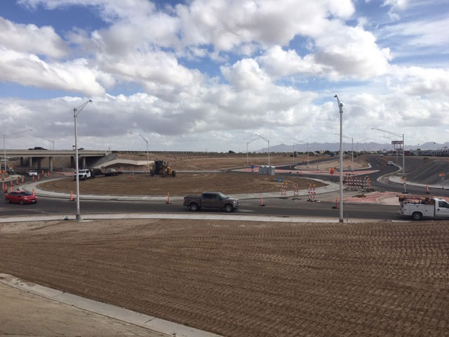 Araby Rd roundabout under construction
