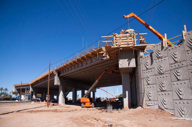 Bridgework on Bell/Grand Interchange Project