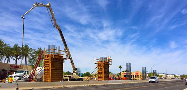 Column Construction along Bell Roads: Bell/Grand Intersection Construction