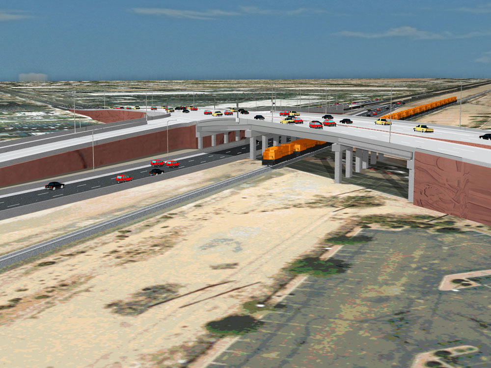 Rendering of Bell Road Overpass for US 60/Grand Avenue