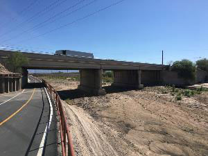 Bike path going under Ajo Way