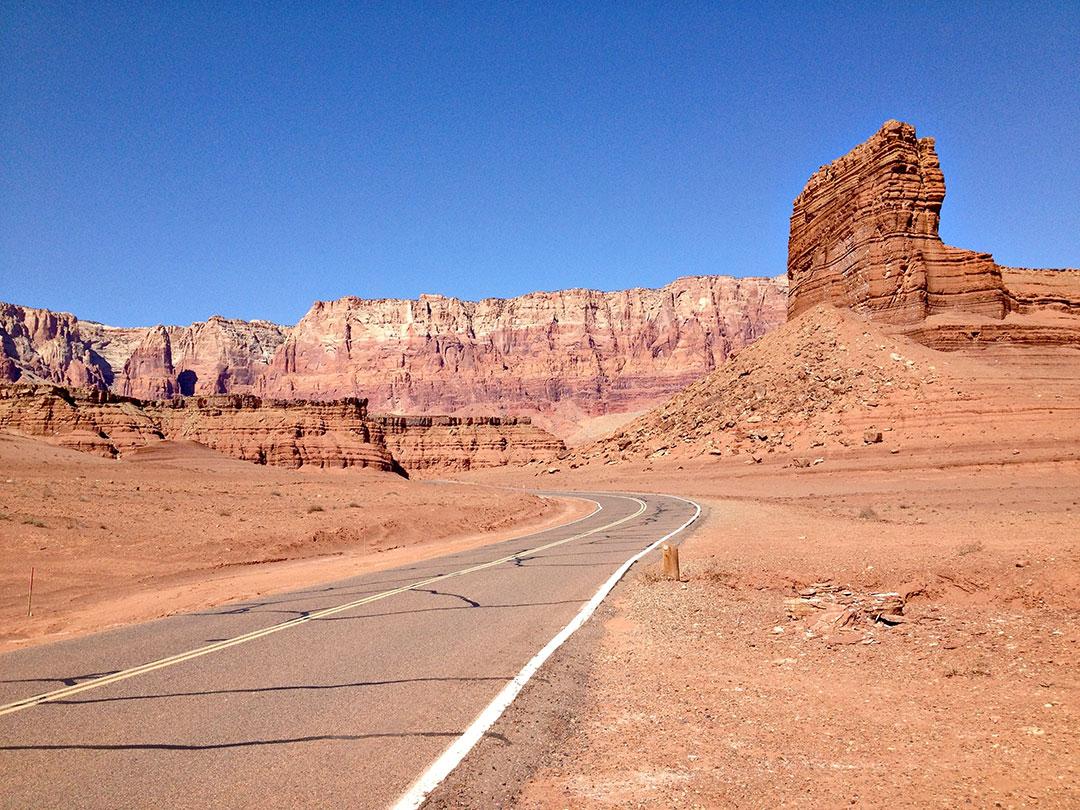 Isolated road in Arizona