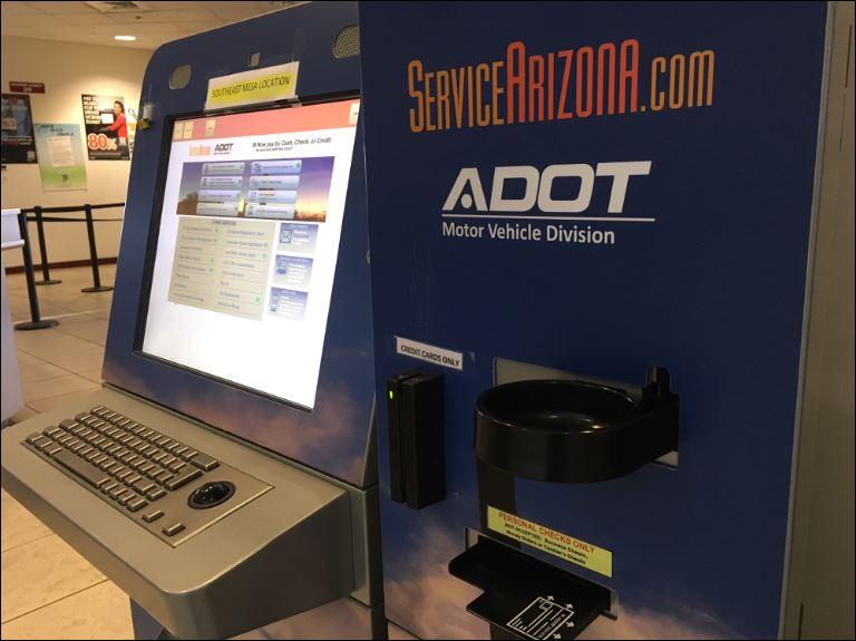 Service Arizona Kiosk now takes cash