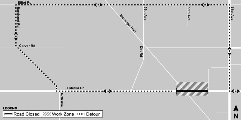 Estrella Drive Closure Map
