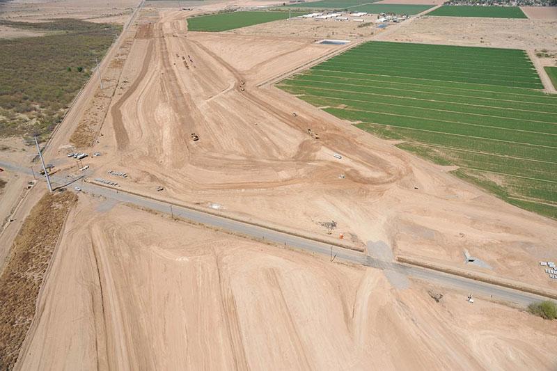 Estrella Drive Traffic Interchange Aerial Photo